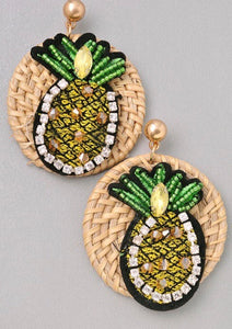 Pineapple Natural Earrings