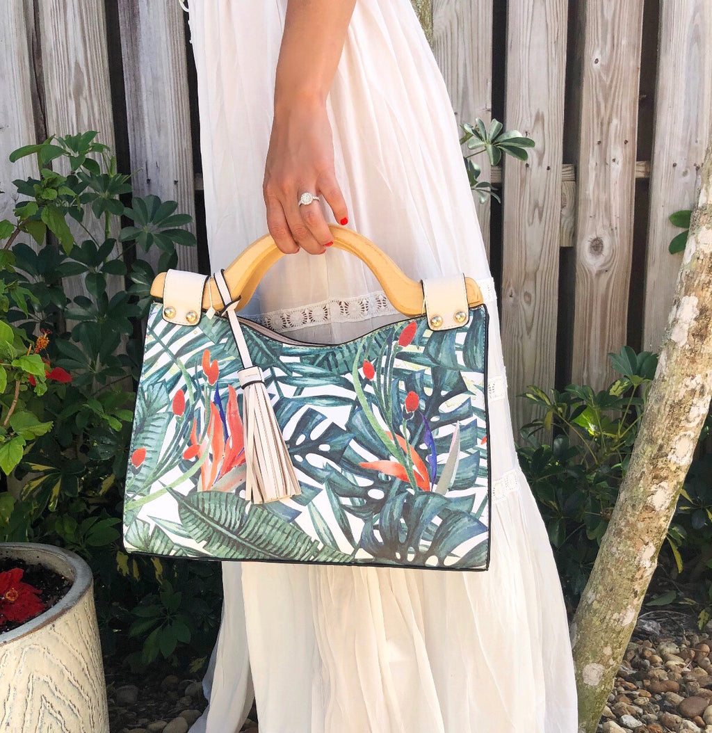 Tropical Leaf Satchel