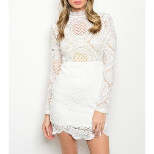 White All Lace Dress