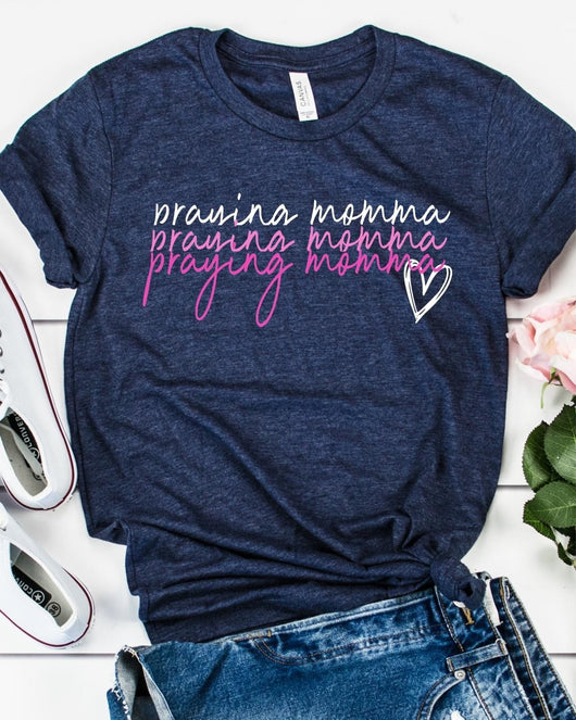 "Praying Momma"" Screen Print Graphic Tee"
