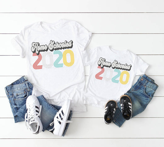 """Home Schooled 2020"" Custom Screen Print Tee"