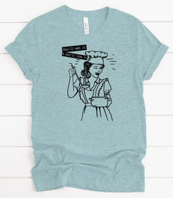 """Eat It And Like It"" Screen Print Graphic Tee"