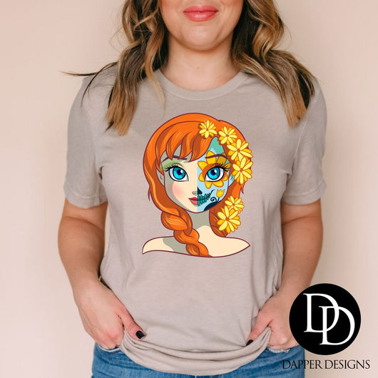 """Princess Fan Art Anna"" Screen Print Graphic Tee"