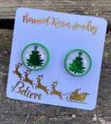 """Deck The Halls"" Holiday Themed Post Style Earrings"