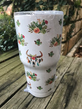 Patterned Tumblers with Lid