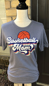 """Basketball Mom"" Throwback Graphic Tee"