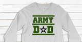 """Army Dad"" With Star Long Sleeve Graphic Tee"