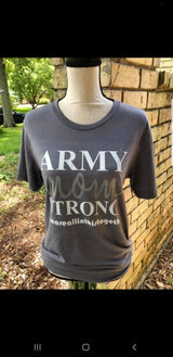 """Army Mom Strong"" Solid Tee"
