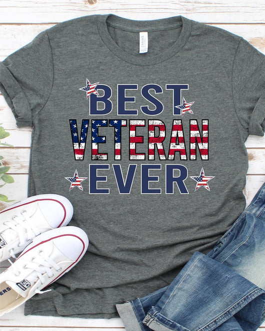 """Best Veteran Ever"" Screen Print Graphic Tee"