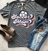 """Soccer Mom"" Throwback Screen Print Graphic Tee"