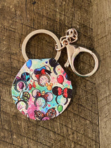 """Take Me With You"" Round Themed Keychains"