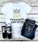"""God Found"" Army Mom Graphic Tee"