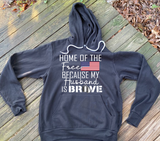 """Home of the Free"" Spouse Hoodie"