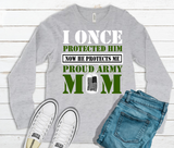 """I Once Protected Him"" Long Sleeve Graphic Tee"