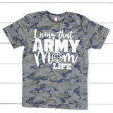 """Living That Army Mom Life"" Graphic Tee"