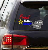 """Proud US Army"" Car Decal"
