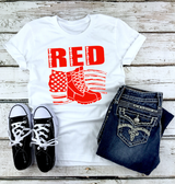 """RED Friday With Boots"" Graphic Tee"