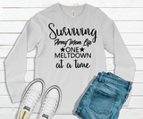 """Surviving Army Mom Life"" Long Sleeve Graphic Tee"