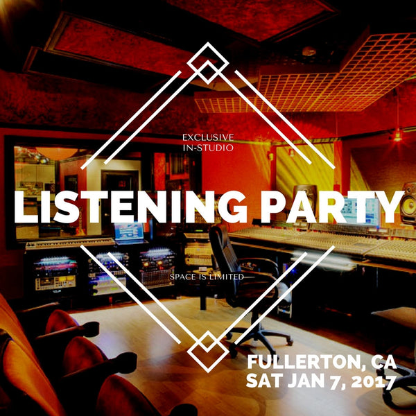 Mister Curry's Exclusive, In-Studio Pre-Release Album Listening Party & Cocktail Mixer