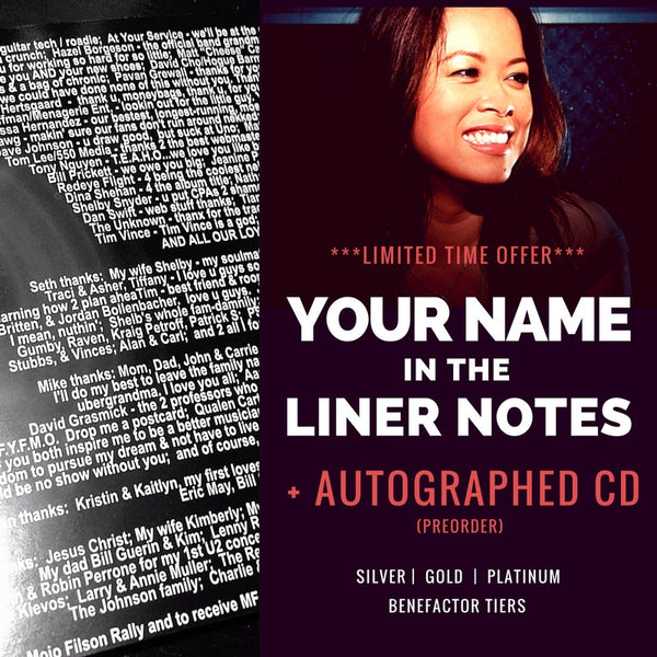 Your name in Giana's album liner notes + Autographed CDs