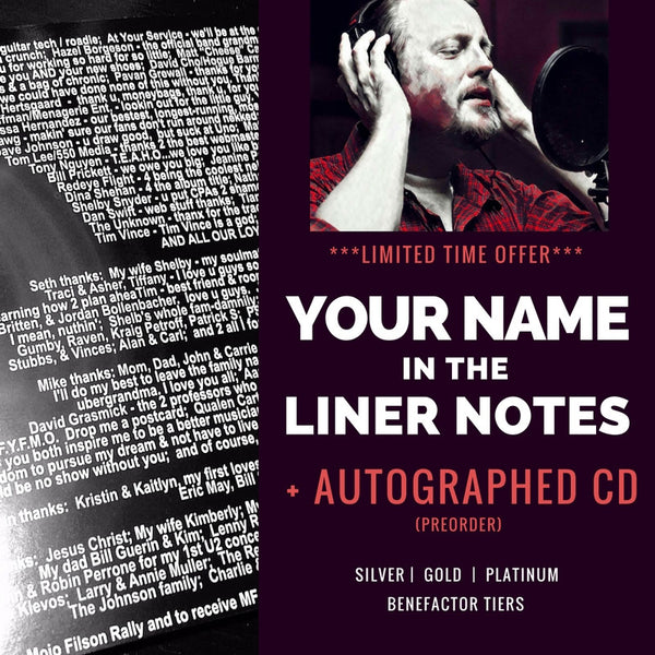 Your name in Klevos' album liner notes + Autographed CDs