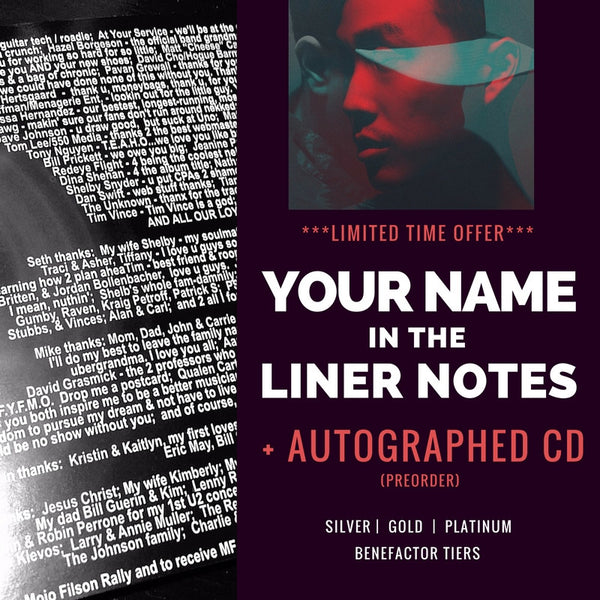 Your name in YNGCULTS's album liner notes + Autographed CDs