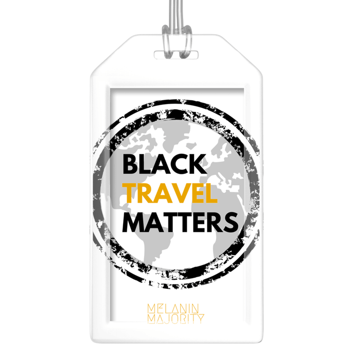 Black Travel Matters Luggage Tag