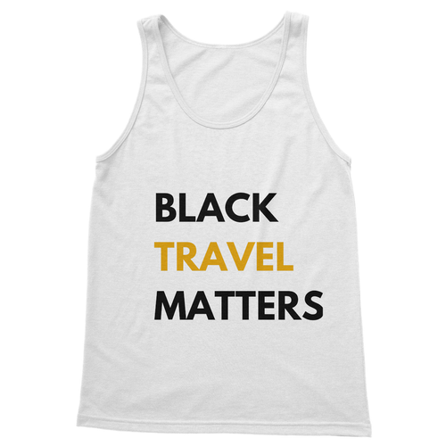 Black Travel Matters Softstyle Tank Top