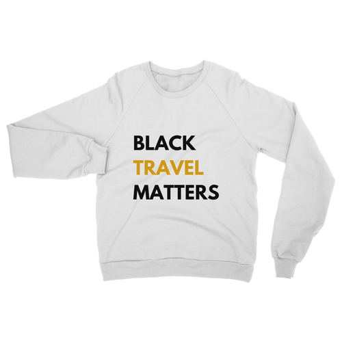 Black Travel Matters Crew Neck Sweatshirt