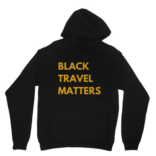Black Travel Matters Hooded Sweatshirt