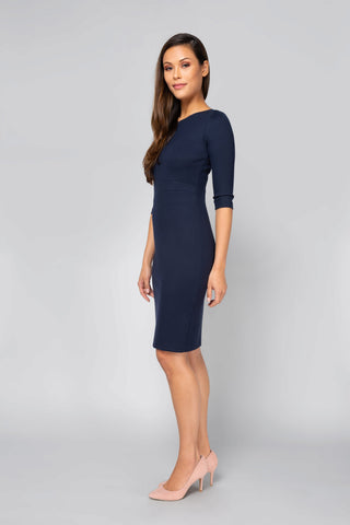 Women's Lydia Dress in Navy | Nora Gardner Side