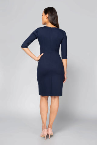 Women's Lydia Dress in Navy | Nora Gardner Back