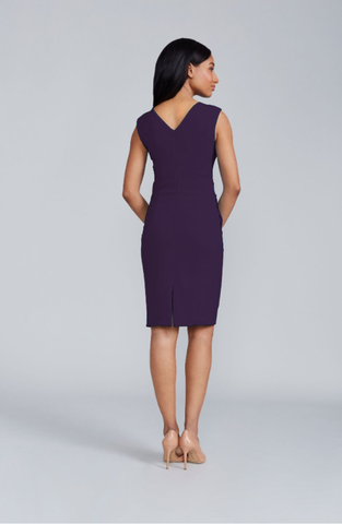 Alyssa Dress V-Back - Eggplant