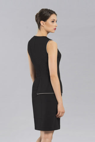 Women's Anina Peplum Dress in Black | Nora Gardner -  Back