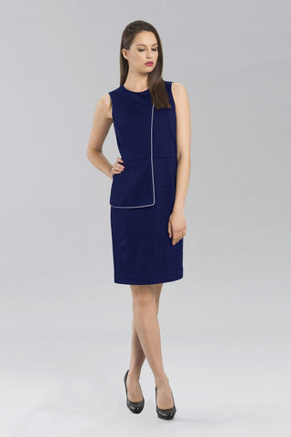 Anina Peplum Dress - Navy