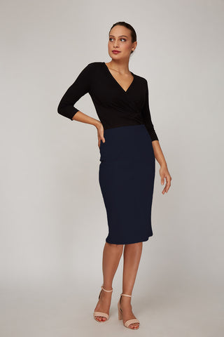 Women's Rita Skirt in Dark Indigo | Nora Gardner Front