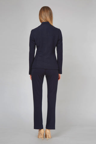 Women's Donnatella Blazer in Navy Pinstripe | Nora Gardner - Back