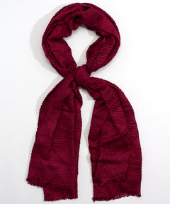Scarf Pleated Wrap - Red