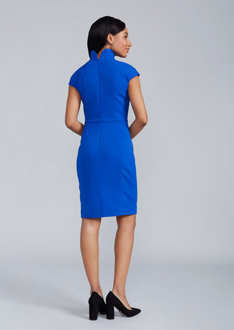 Women's Evelyn Dress in Royal Blue | Nora Gardner Back