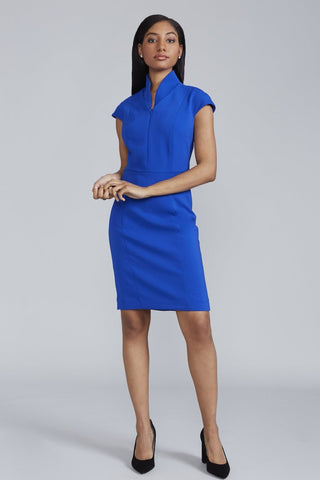 Women's Evelyn Dress in Royal Blue | Nora Gardner Front