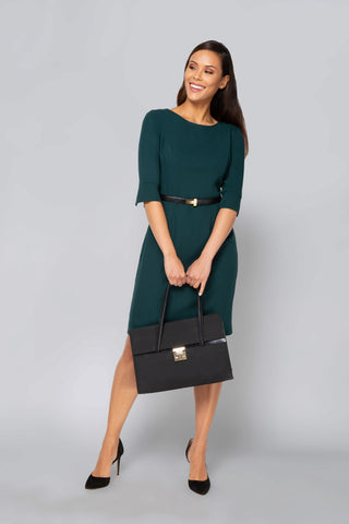 Gabrielle Dress - Hunter Green