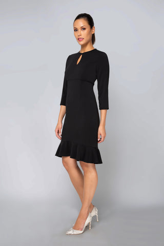 Women's Giselle Crepe Dress in Black | Nora Gardner