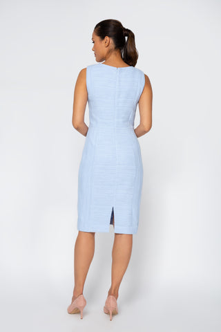 Back Women's Helen Dress in Ice Blue | Nora Gardner