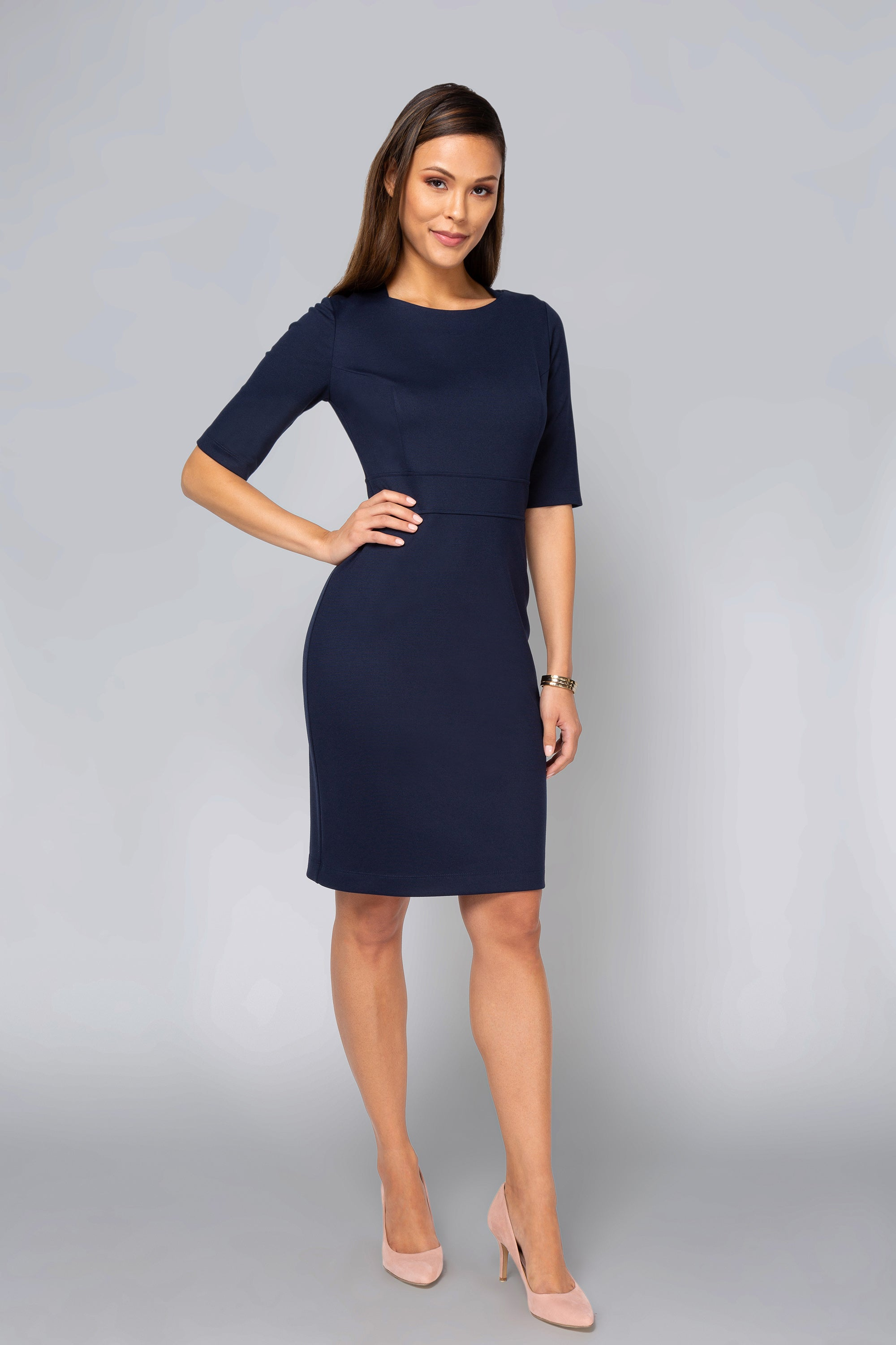 Karyn Dress - Navy
