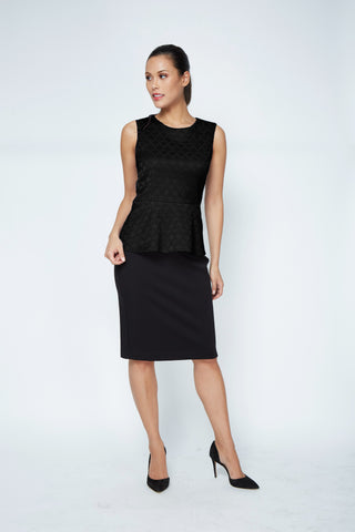 Kelly Top - Black Jacquard