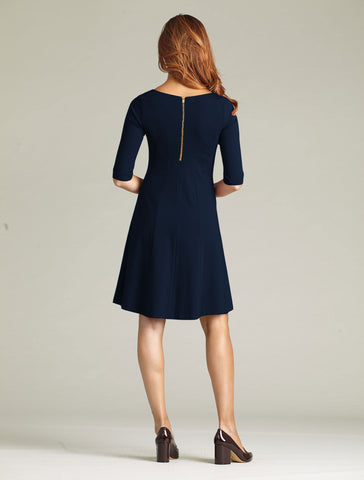 Women's Lizette Dress in Navy | Nora Gardner Back