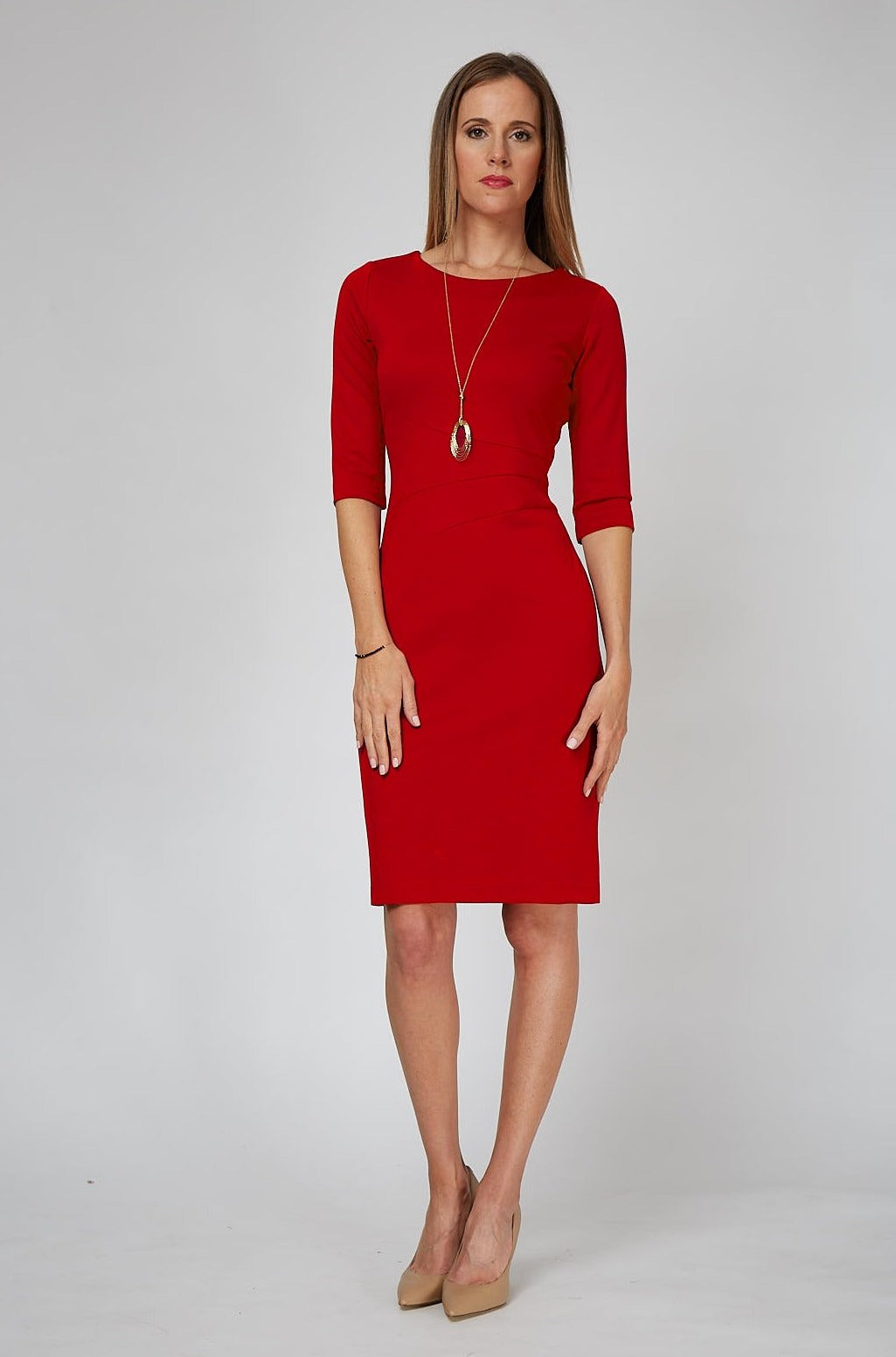 Lydia Dress - Bittersweet Red Pre-order