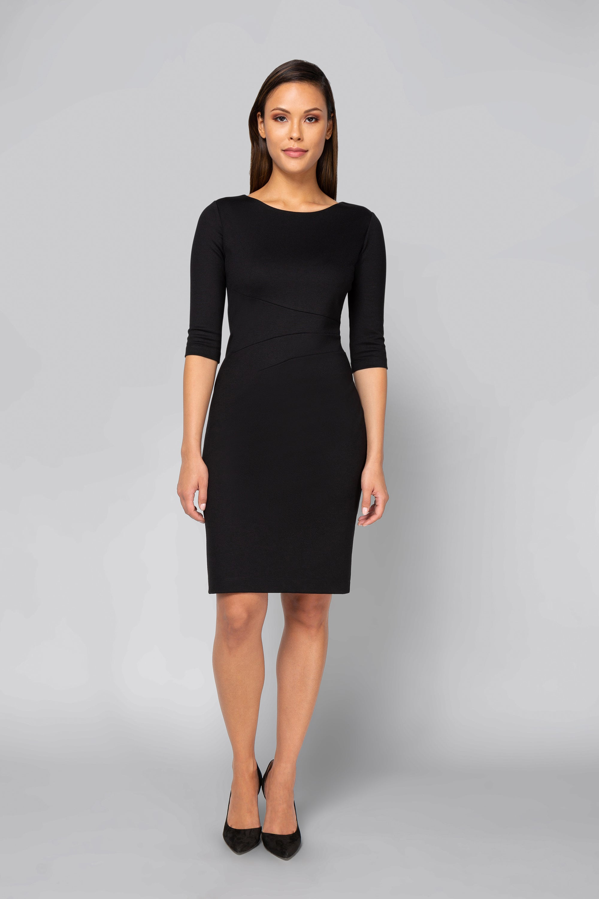 Women's Lydia Dress in Black | Nora Gardner Front