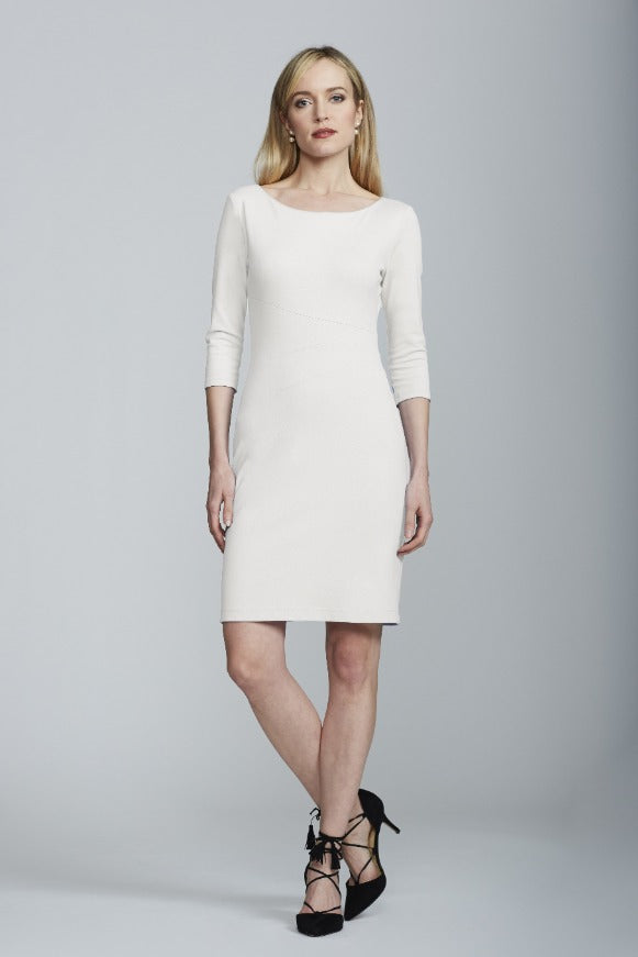 Women's Lydia Dress in Cream | Nora Gardner Front