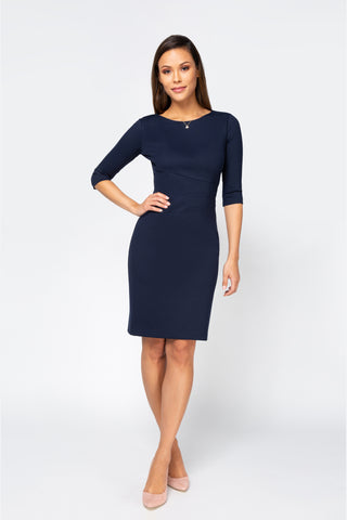 Women's Lydia Dress in Navy | Nora Gardner Front